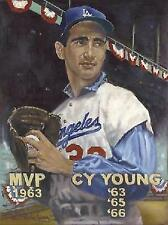 Sandy Koufax Los Angeles Dodgers King of the Hill Lithograph Robert Simon