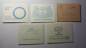 SWEDEN  COLLECTION OF 5 COMPLETE MNH BOOKLETS