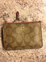COACH Wallet Coin Card and is Purse ID MINI SKINNY Leather Key Chain