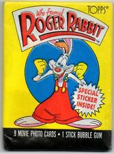 NOS 8x 1987 Topps Who Framed Roger Rabbit Movie Trading Cards Unopened Wax Packs