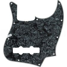 NEW Standard Jazz Bass Pickguard BLACK PEARL 10 Hole for USA Fender JB Guitar