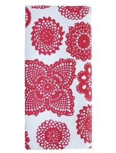 NEW NEW Dandi Napkins set of 4 - Doilie Red Cotton Fabric Table Napkins