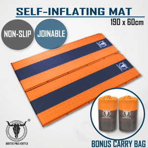2 x Self Inflating Mattress Sleeping Mat Air Bed Camping Camp Hiking Joinable Or
