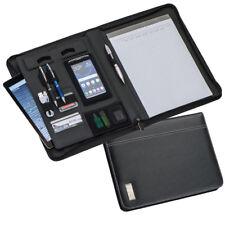 Konferenzmappe DIN A4  -  hochwertige Schreibmappe  -  Aktenmappe  -  Echt Leder