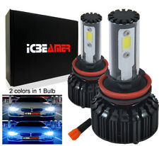 H11 COB Canbus LED 70W 6000k 30000K White Blue Low Beam Fog Light Bulb S9