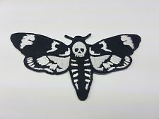 Quality Iron/Sew on Death's head hawkmoth biker patch Silence of the lambs goth