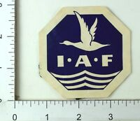 1940's-50's IAF Airline Goose Luggage Label Poster Stamp Vintage Original F70