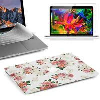 """Beautiful Rubberized 3D Flower Case For 2018 Macbook Pro 13"""" with/out Touch Bar"""