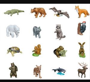 Pick a Kinder Toy Natoons 2021 raccoon bear stag lynx beaver eagle whale fox