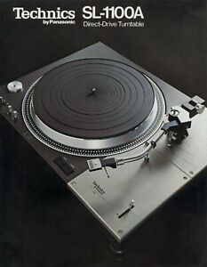 COPY of the rare 6-page brochure for vintage Technics SL-1100A turntable on CD-R