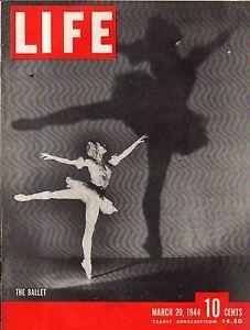 1944 Life March 20 - Tule Lake Internment Camp; Outlaw's Bridge NC; Lake Placid