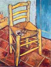 Metal Sign Van Goghs Chair 1888 1889 A4 12x8 Aluminium