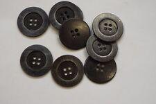8pc 20mm Grigio Acciaio Metallo Blazer Cappotto Cardigan Maglieria Bambini pulsante 3452