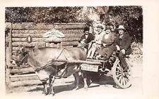 "RPPC HOT SPRINGS AR Cow-Cart ""Happy Hollow"" Arkansas Photo Postcard ca 1930s"