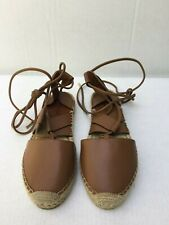 Jimmy Choo Darby Vac Tan Lace Up Espadrilles In Size 36