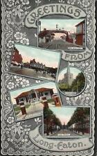 Long Eaton Multi View Railway Station old pc used 1907 Peveril