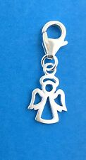 925 Sterling Silver Angel Clip on Charm