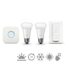Philips Hue White Ambiance Personal Wireless Lighting LED E27 Starter Kit 2