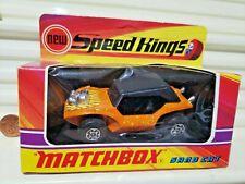Lesney Matchbox 1972 KING SIZE Speed Kings K37A SAND CAT NEW MINT in C9 MINT BOX