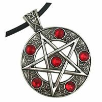 Pentagram Star necklace magic pentacle choker silver men
