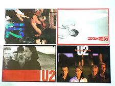 Rare Set Of 4 U2 Postcards Free Uk Post & Packaging