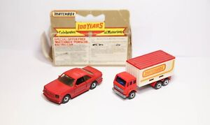 Matchbox MB 43 Mercedes AMG In It's Original Box & Mercedes Container Truck