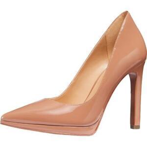 MICHAEL Michael Kors Womens Brielle  Beige Dress Heels 7 Medium (B,M) BHFO 0414