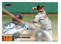 JOHN MEANS 2020 TOPPS STADIUM CLUB AUTO BALTIMORE ORIOLES