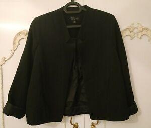 Topshop Ladies Black Cropped Bolero Jacket Size UK 10