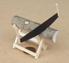 1:12 Th Escala bloque de madera y sierras de Casa de muñecas en miniatura Accesorio de jardín