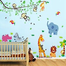 Diseño F-giraffe/monkey/bear / zebra/baby/kid Vivero pegatinas de pared calcomanía