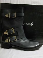 Boutique 9 Size 6.5 M RADANNAH Black Leather Ankle Boots New Womens Shoes