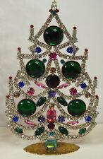 Christbaum Aufsteller Weihnachtsbaum Christmas tree Strass Gablonz Glas 17cm