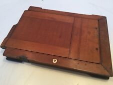 Vintage Wooden Camera Double Sided Back Plate.