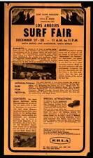 Los Angeles Surf Fair 1963 Flyer / Handbill Co-sponsored Krla Radio - S.M. Civic