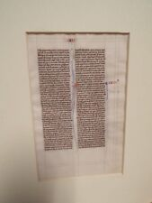 1250-1275 Paris, France - Medieval Manuscript Bible Leaf on Vellum - Latin
