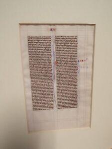 1250-1275 Paris, France - Medieval Manuscript Bible Leaf on Vellum - Latin