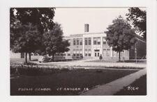 The Public School building in Saint St Ansgar Iowa RPPC 3764 real photo postcard