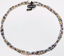 """Honora Freshwater Pearl Necklace 18"""" Double Twist Silver Clasp BRAND NEW w/ TAG"""