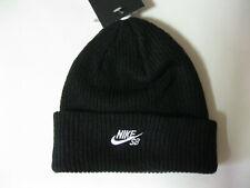 Nike SB Short Fisherman Beanie 628684 Black Winter Knit Hat Cap Christmas Gift