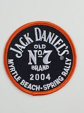 Jack Daniels Patch No 7 Whiskey 2004 Orange Black embroidered Myrtle Beach Rally