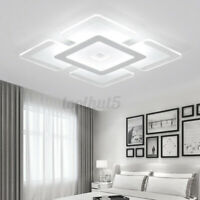 Modern LED Ceiling Light For Living Dining Room Bedroom Square Chandelier