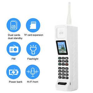 Vintage FM Radio Cellphone Voice Flashlight Elderly Mobile Phone Dual SIM USPlug
