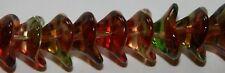 Czech Glass 12mm Three Petal Bell Flower Beads - 25 Pack PEACH PEAR jewellery