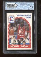 Michael Jordan 1989-90 Hoops #21 All-Star Chicago Bulls GEM MINT 10