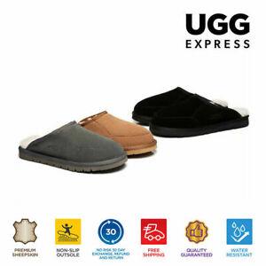【EXTRA15%OFF】UGG Scuff Men Home Slippers Bred Australian Sheepskin Wool