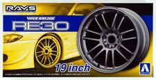 124 Rays Volk Racing Re30 19 Tire Wheel Set Aoshima Car Model Parts 53812