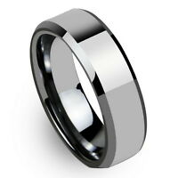 Tungsten All Size Mens Carbide 6MM Silver Wedding Band Ring Never Tarnish M49