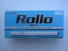 1000 ROLLO BLUE FILTERES SLIM 6.5mm CIGARETTE TUBES