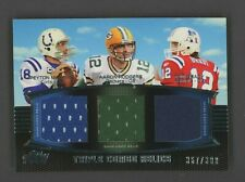 2011 Topps Prime Peyton Manning Aaron Rodgers Tom Brady Triple Jersey /388